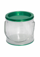 Clear Pails with Colorful Lids