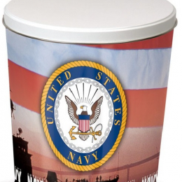 US FORCES   3 Gallon United States Navy Tin