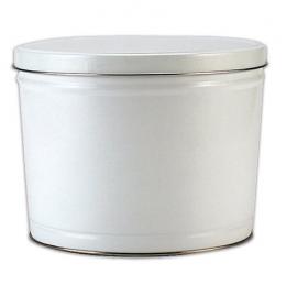 White 2 Gallon Popcorn Tin - SOLD OUT