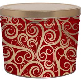 Golden Swirls 2 Gallon Popcorn Tin