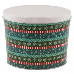 Gift Wrap 2 Gallon Popcorn Tin