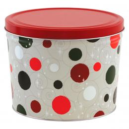 Jolly Dots 2 Gallon Popcorn Tin