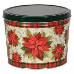 Traditional Holiday 2 Gallon Popcorn Tin