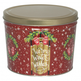 Warm Winter Wishes 2 Gallon Popcorn Tin - SOLD OUT