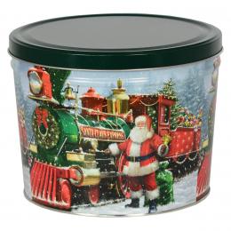 Santa Express 2 Gallon Popcorn Tin
